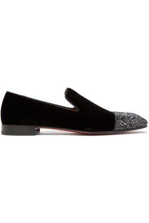 Christian Louboutin Dandelion Crystal-embellished Velvet Loafers