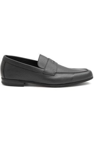 JOHN LOBB Thorne Pebble-grain Leather Penny Loafers