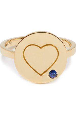 Aurélie Bidermann Fine Jewellery Heart Sapphire & 18kt Ring