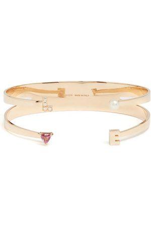 DELFINA DELETTREZ Diamond, Rhodolite, Pearl & Pink- Cuff