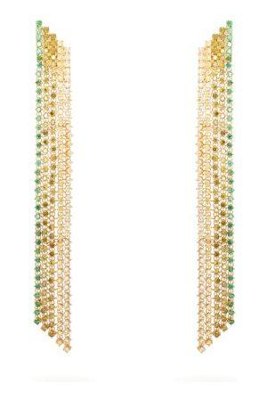 Lynn Ban Waterfall Sapphire & -plated Earrings