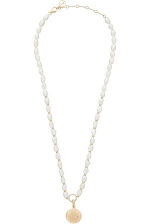 Anissa Kermiche Louise D'or Coin Diamond & Pearl Necklace