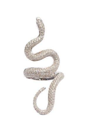 Lynn Ban Diamond & Sterling-silver Snake Ring