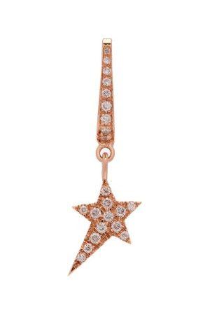 Diane Kordas Star-charm 18kt Rose- Single Earring