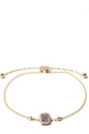 Anissa Kermiche February Diamond, Amethyst & 14kt Bracelet
