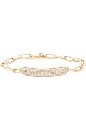 Lizzie Mandler Od Id Diamond & 18kt Nameplate Bracelet