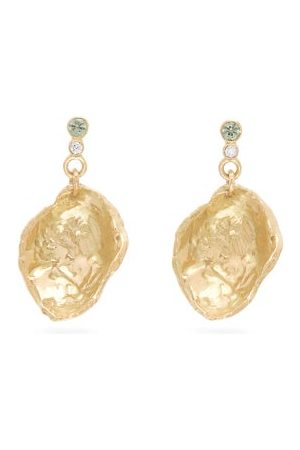 Nadia Shelbaya Diamond, Sapphire & 18kt Drop Earrings