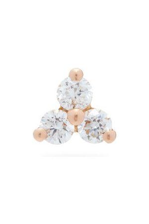 Maria Tash Trinity Diamond & 18kt Rose- Single Earring