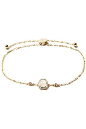 Anissa Kermiche June Moonstone, Diamond & 14kt Bracelet