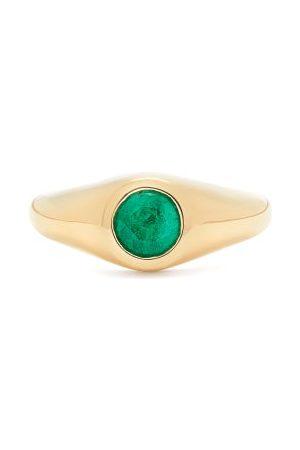 Lizzie Mandler Emerald & 18kt Signet Ring