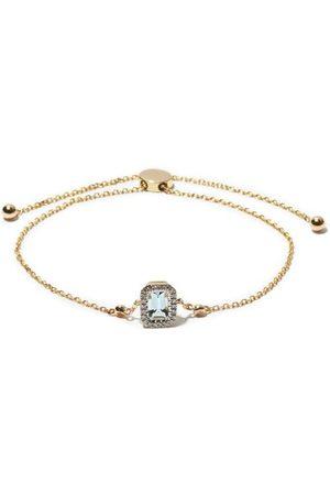 Anissa Kermiche Damen Armbänder - March Diamond, Aquamarine & 14kt Bracelet