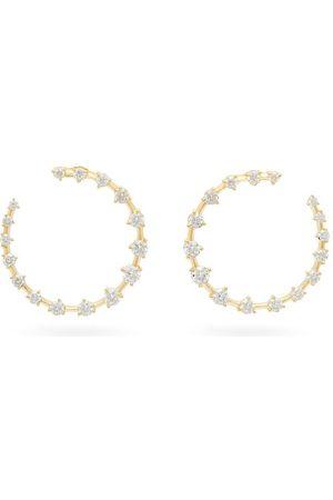 Jade Trau Crescent Diamond & 18kt Hoops