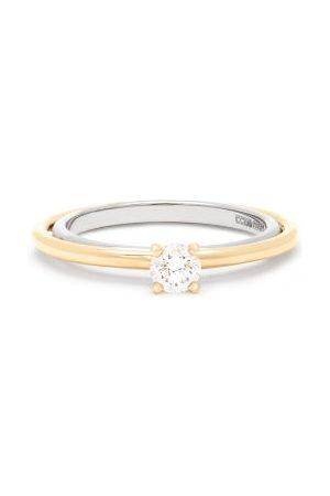 Charlotte Chesnais Fine Jewellery Elipse Solitaire Diamond & 18kt Ring