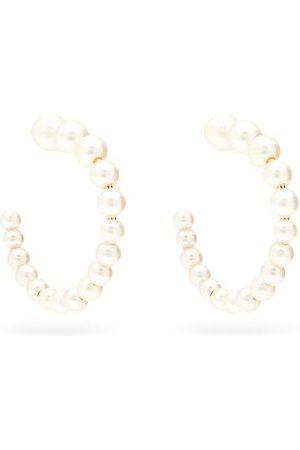 Sophie Bille Brahe Boucle Freshwater-pearl & 14kt Hoop Earrings