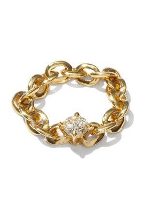 Lizzie Mandler Knife Edge Diamond & 18kt Chain Ring