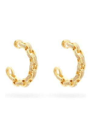 PATCHARAVIPA Diamond & 18kt Chain-hoop Earrings