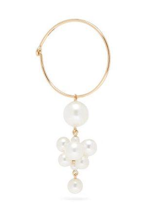 Sophie Bille Brahe Boticelli Pearl & 14kt Hoop Single Earring