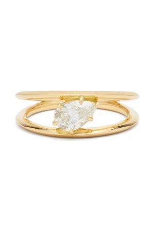 Jade Trau Sadie Diamond & 18kt Solitaire Ring