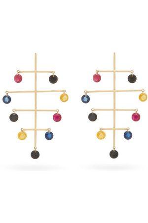 PERSÉE Calder Sapphire, Amethyst & 18kt Earrings