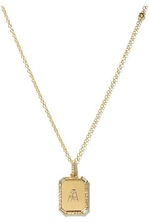 Shay Initial Diamond & 18kt Necklace (a-m)