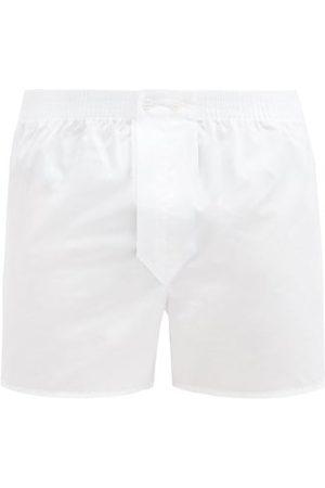 DEREK ROSE Savoy Cotton-poplin Boxer Shorts