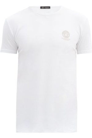 Versace Pack Of Two Medusa-print Cotton-blend T-shirts