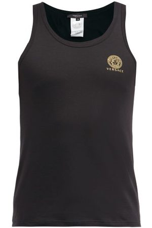 Versace Medusa-print Cotton-blend Vest
