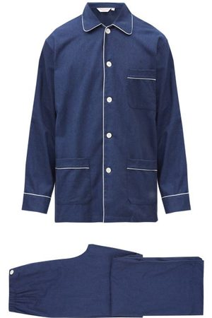DEREK ROSE Balmoral Brushed-cotton Pyjama Set