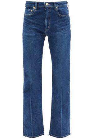 TU ES MON TRESOR Amethyst High-rise Flared-leg Jeans