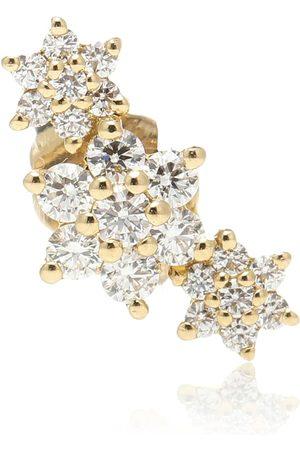Maria Tash Einzelner Ohrring Three Flower Garland aus 14kt Gelbgold mit Diamanten