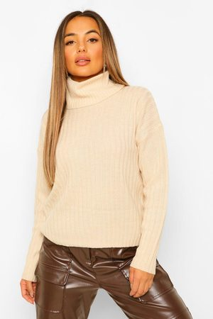 Boohoo Womens Petite Roll Neck Knitted Jumper - - S