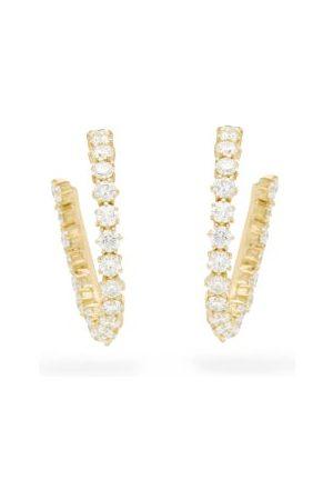 Jade Trau Catherine Diamond & 18kt Hoop Earrings