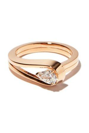 Repossi Serti Sur Vide Diamond & 18kt Rose- Ring