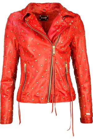 Maze Damen Lederjacken - Biker-Lederjacke mit asymmetrischem Reißverschluss ' Heart