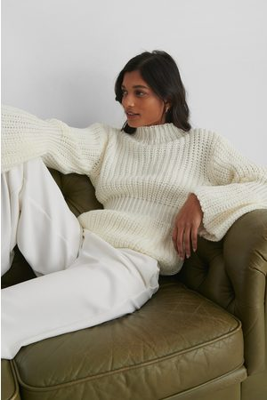 Trendyol Knit Sleeve Detail Sweater - Offwhite