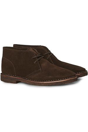 Drake's Herren Halbschuhe - Clifford Suede Desert Boots Dark Brown