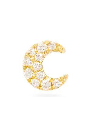 Maria Tash Moon Diamond & 18kt Single Earring