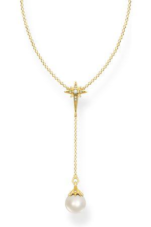 Thomas Sabo Kette Perle mit Stern gold