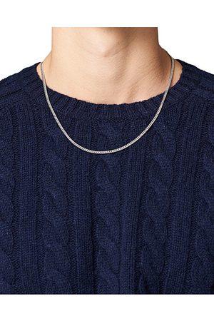 Tom Wood Herren Halsketten - Curb Chain M Necklace Silver