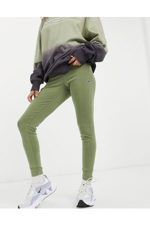 Russell Athletic – Gerippte Leggings in Khaki