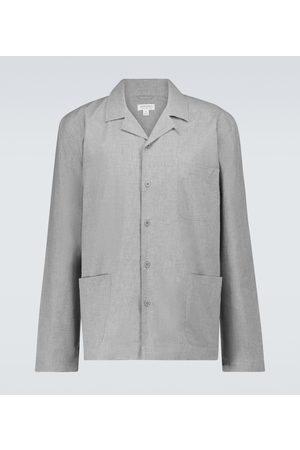 Sunspel Pyjama-Oberteil aus Baumwolle