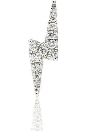 Maria Tash Einzelner Ohrring Lightning Bolt aus 14kt Weißgold mit Diamanten
