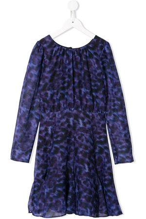 MARCHESA NOTTE MINI Mädchen Bedruckte Kleider - Novah' Kleid mit Leoparden-Print