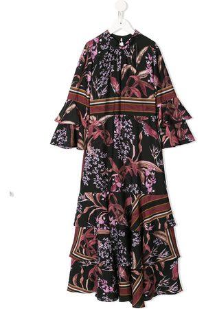 Marchesa Notte Kleid mit Blumen-Print