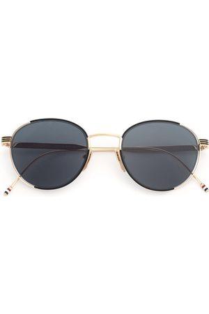 Thom Browne 12kt Goldsonnenbrille mit rundem Gestell