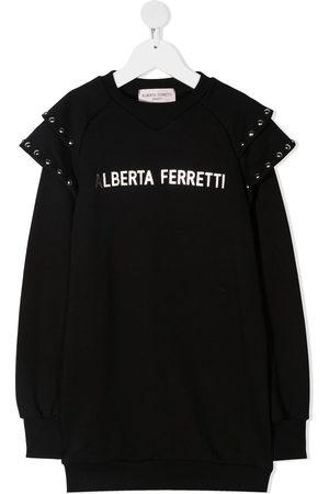 Alberta Ferretti Sweatshirtkleid mit Rüschen