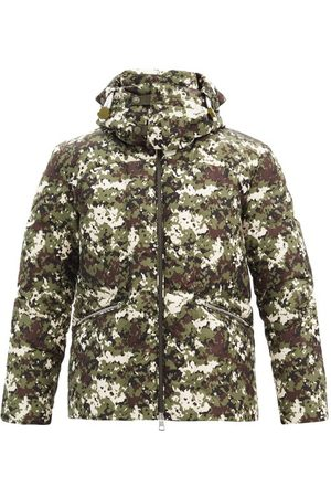 Moncler Blanc Camouflage-print Quilted Down Coat