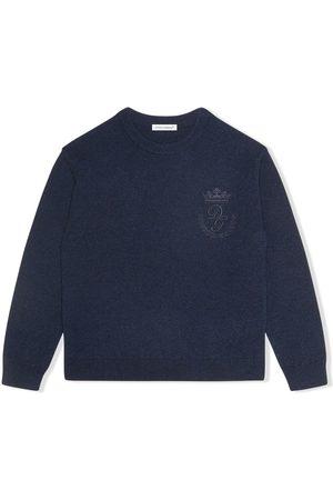 Dolce & Gabbana Gestrickter Pullover mit Logo-Stickerei