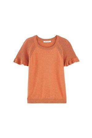 Promod Damen T-Shirts - Pullover mit kurzem Arm