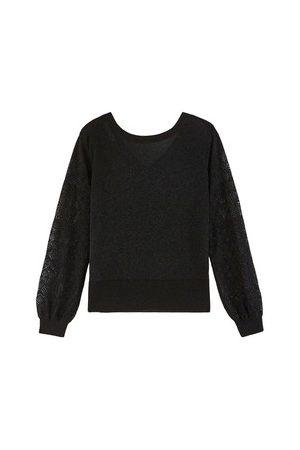 Promod Damen Pullover - Pullover mit Glanzfäden